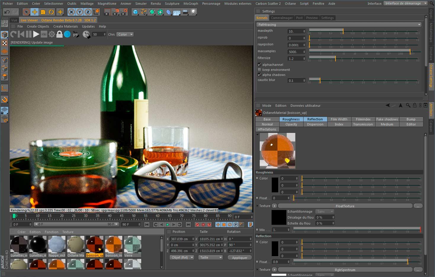 Octane render plugin c4d ou standalone atome451 for Cinema 4d raumgestaltung