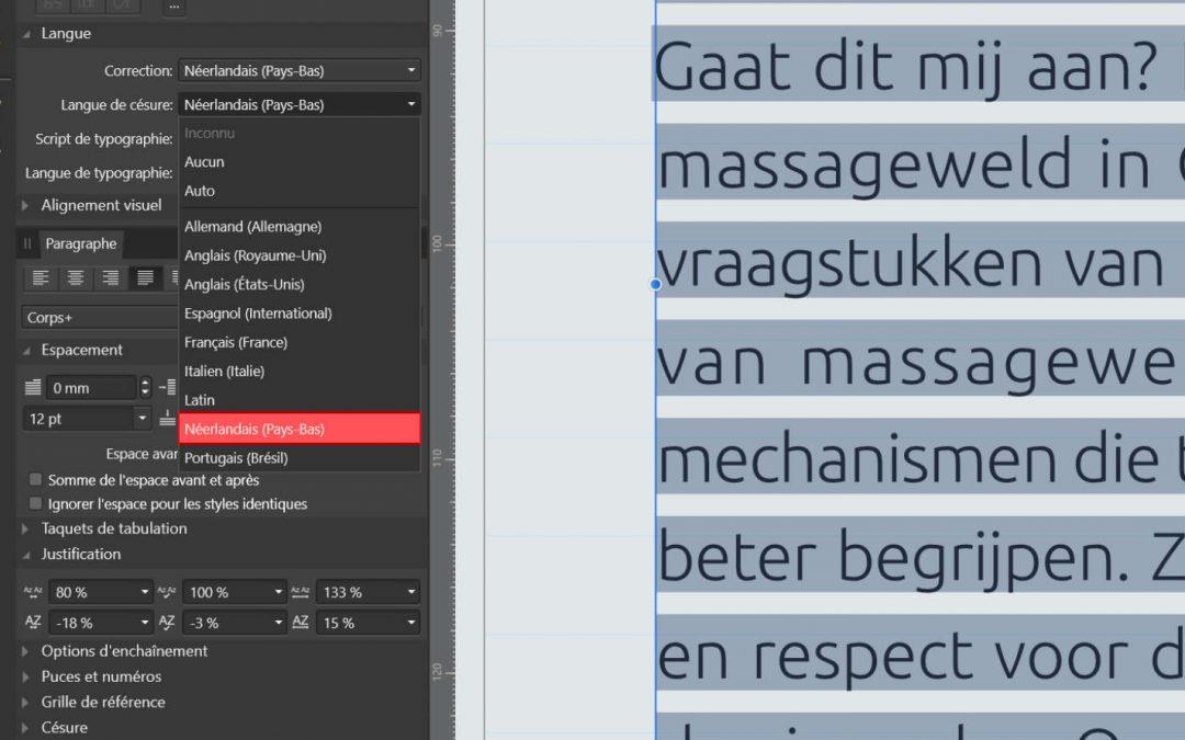 Affinity et les césures de langues non supportées nativement comme le néerlandais